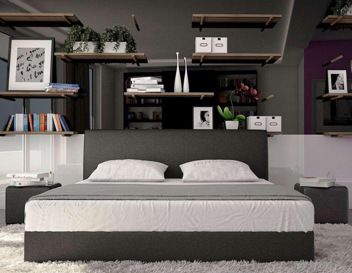 www.spimelevne.cz postele,matrace,čalouněné postele,levné postele,postele levně, postele spimelevne - V2 160x200cm černá www.spimelevne.cz
