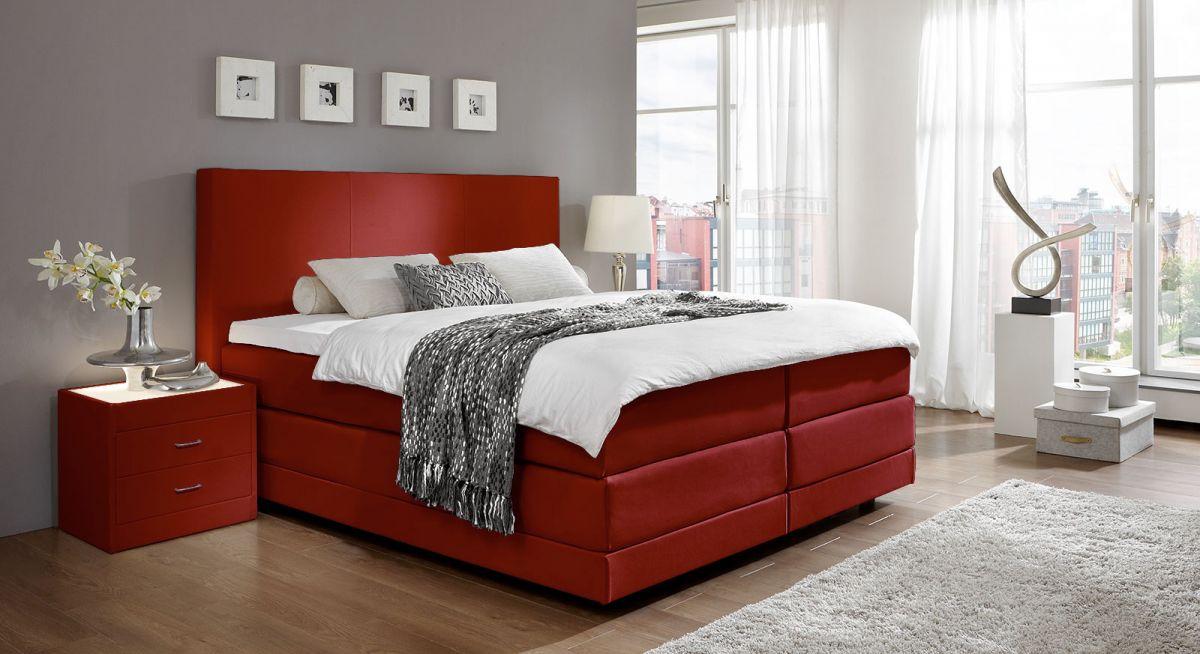 www.spimelevne.cz postele,matrace,čalouněné postele,levné postele,postele levně, postele boxspring, spimelevne - 160x200 cm červená www.spimelevne.cz