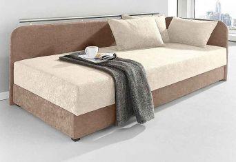 Čalouněná postel brown/beige boč.čelo  80x200cm