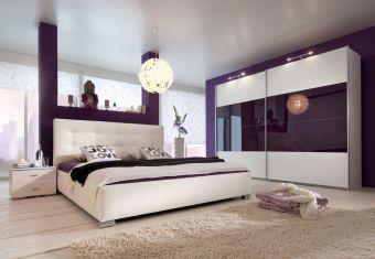 Čalouněná postel Josuha white 180x200cm