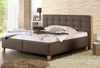 Čalouněná postel Tom brown 200x200cm