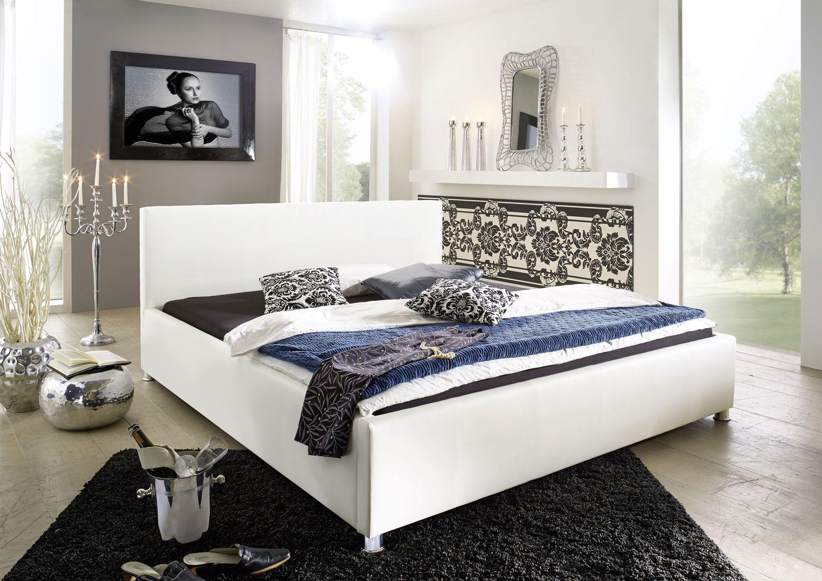 """www.spimelevne.cz Čalouněná postel """"Toskána"""" - 180x200cm bílá www.spimelevne.cz"""