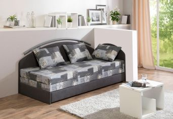 Rozkladcí postel gray flowers